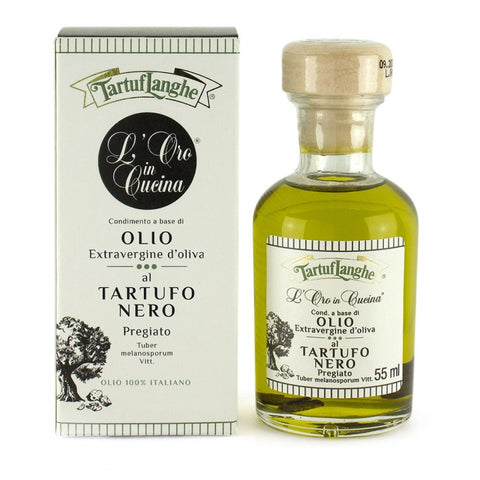 Oro in cucina - Extra Virgin Olive Oil with Black Winter Truffle Slices 55 ml