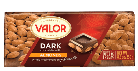 Valor Dark Chocolate with Whole Almonds - Valor