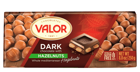Valor Dark Chocolate with Whole Hazelnuts - Valor
