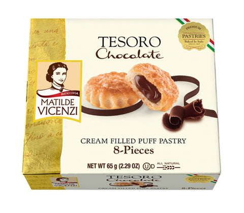 Vicenzi Tesoro Chocolate Cream Filled Puff Pastry - Vicenzi