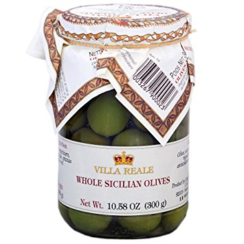 Whole Sicilian Olives in Brine - Villa Reale