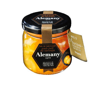 Orange Blossom Honey with Orange Peel - Alemany