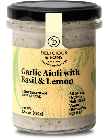 Organic Garlic Aioli with Basil & Lemon - Delicious & Sons