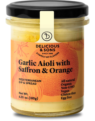 Organic Garlic Aioli with Saffron & Orange - Delicious & Sons