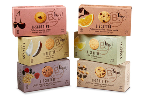 Filippi B-Scottini Chocolate and Hazelnuts Biscuits - Filippi