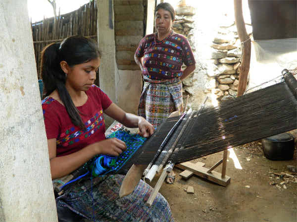 mayan weaver backstrap loom