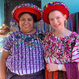 Laurie Naranch with Mayan Hands weaver Antonia