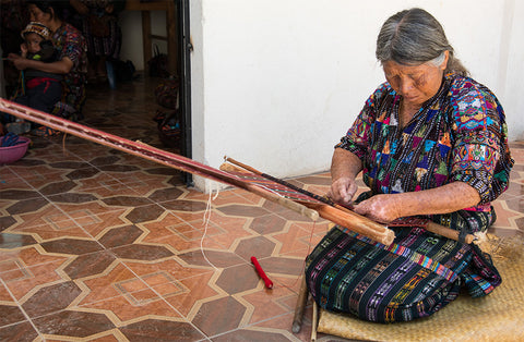 Mayan Hands backstrap weaver