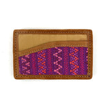 Santiago Brocade and Leather Business Card Holder