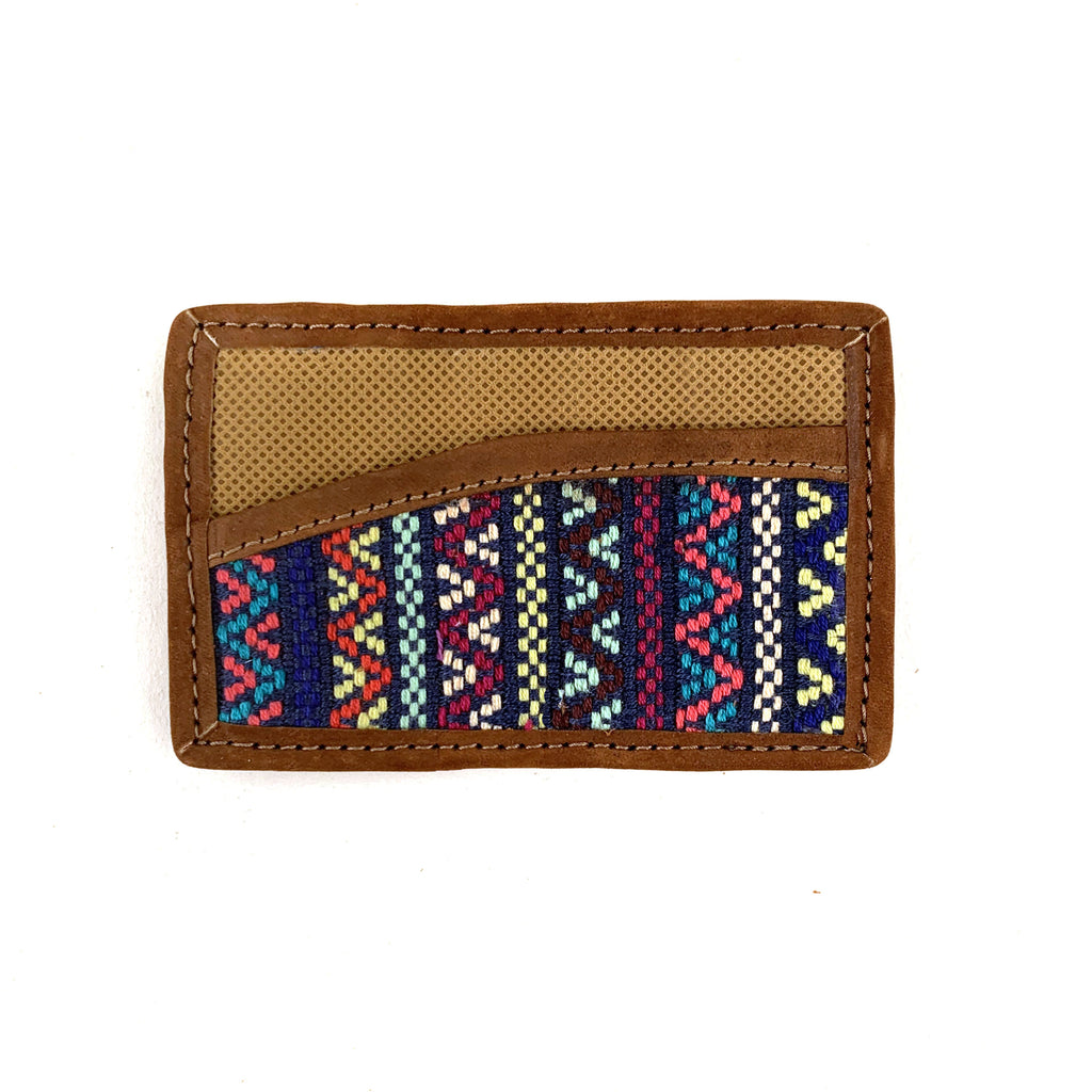 handwoven business cardholder navy