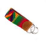 Handwoven Key Fob - rainbow | Mayan Hands
