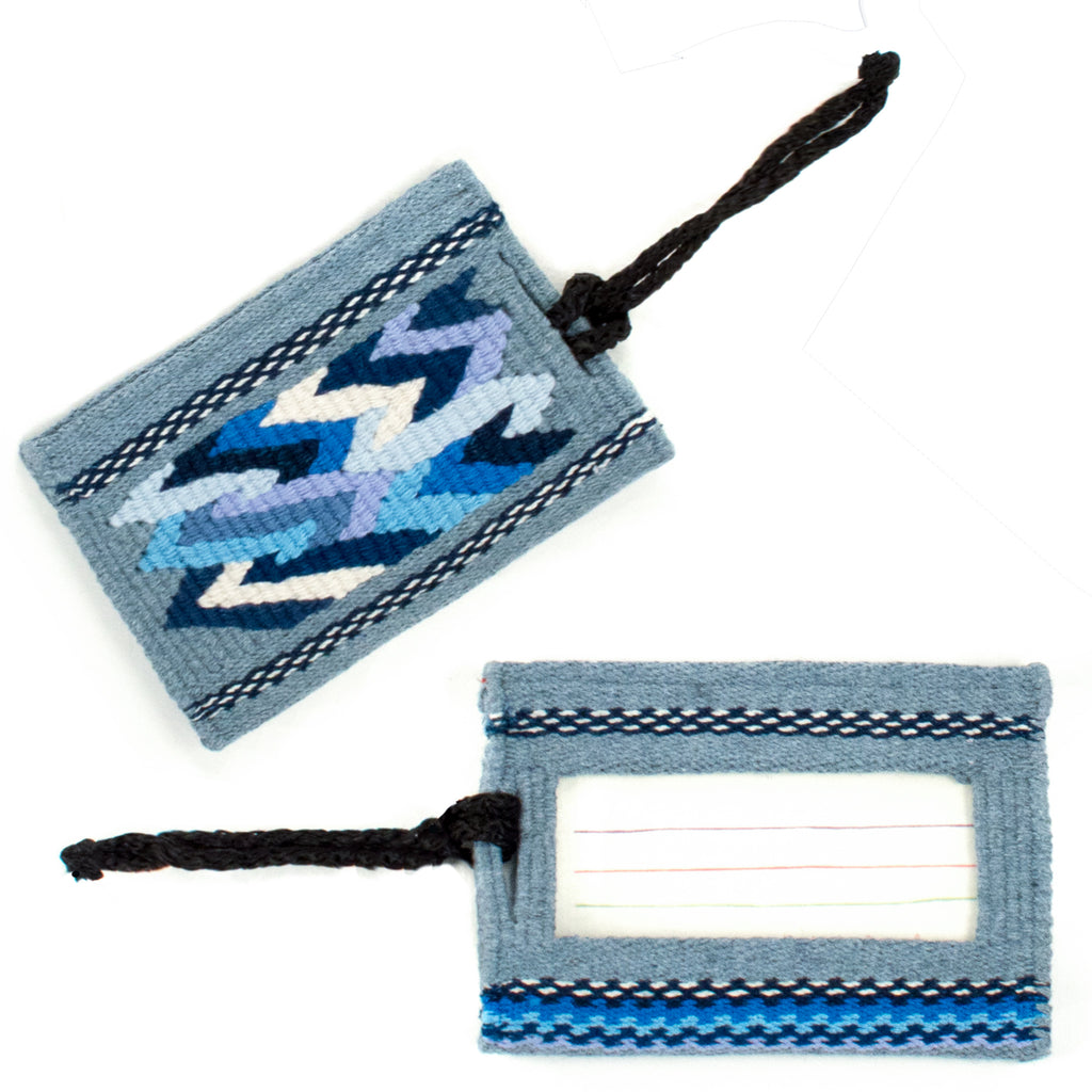Recycled Denim Luggage Tag | Mayan Hands