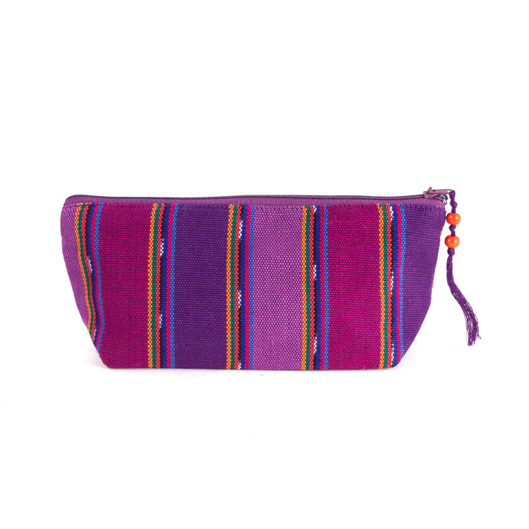 handwoven purple pencil holder