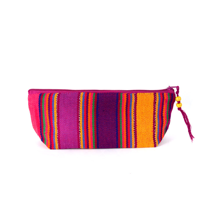 handwoven pencil case bright multi-color