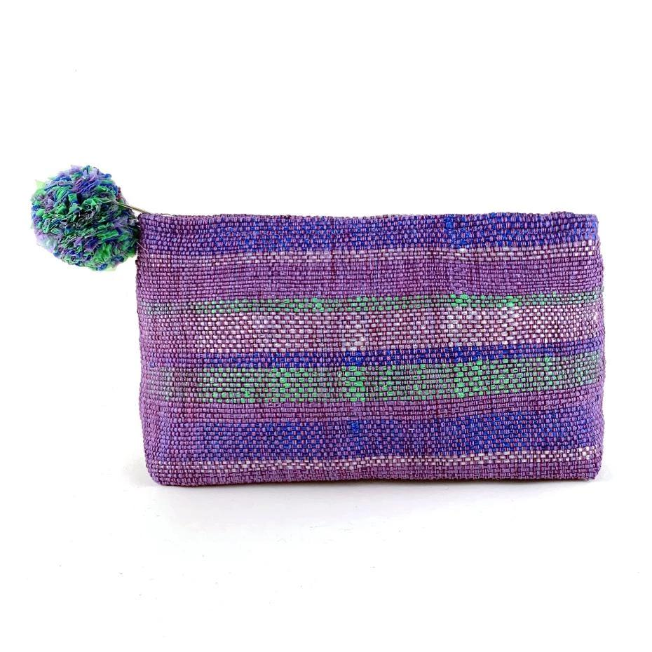 Recycled Plastic Cosmetic Bag - Purple | Mayan Hands
