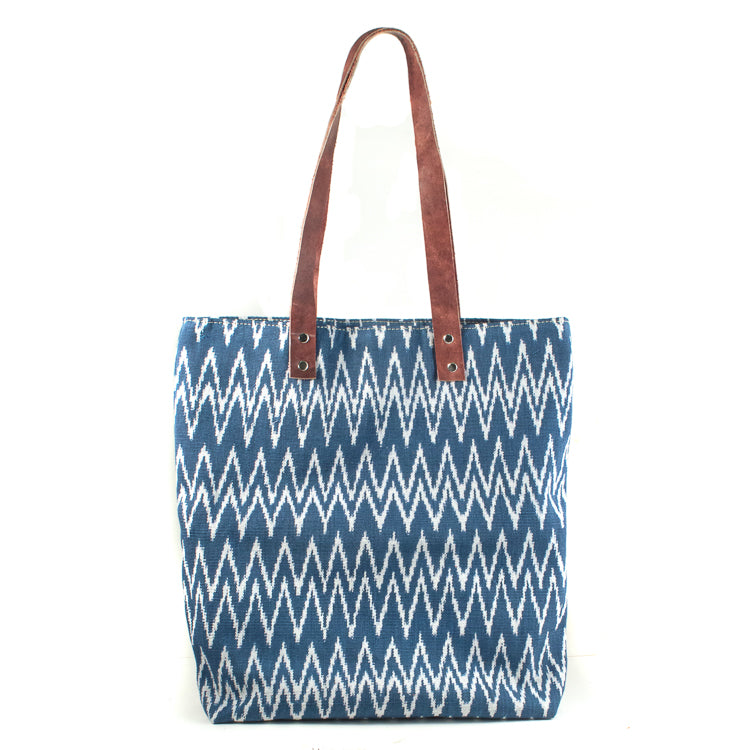 blue jaspe matea tote bag