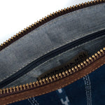 Indigo Macaria Clutch Interior View