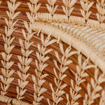 detail of Large Pine Needle Basket with Lacy Handles