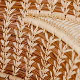 detail of Pine Needle Basket with Lacy Handles