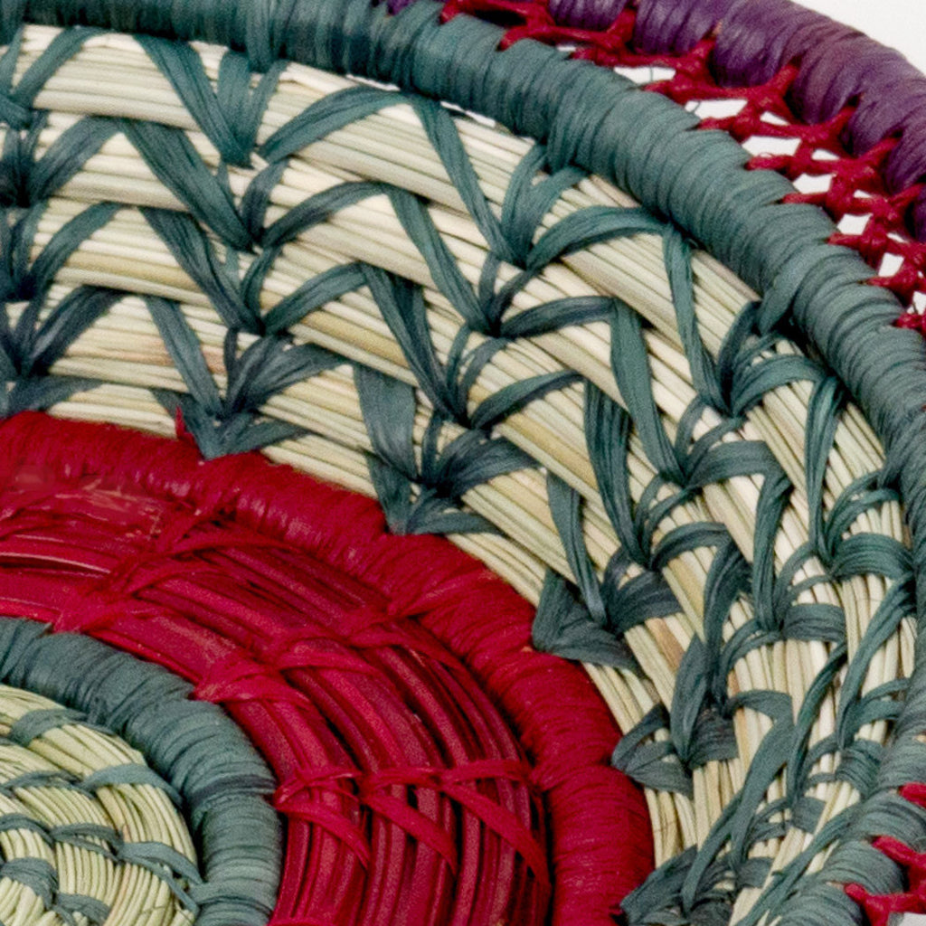 Fina pine needle basket detail