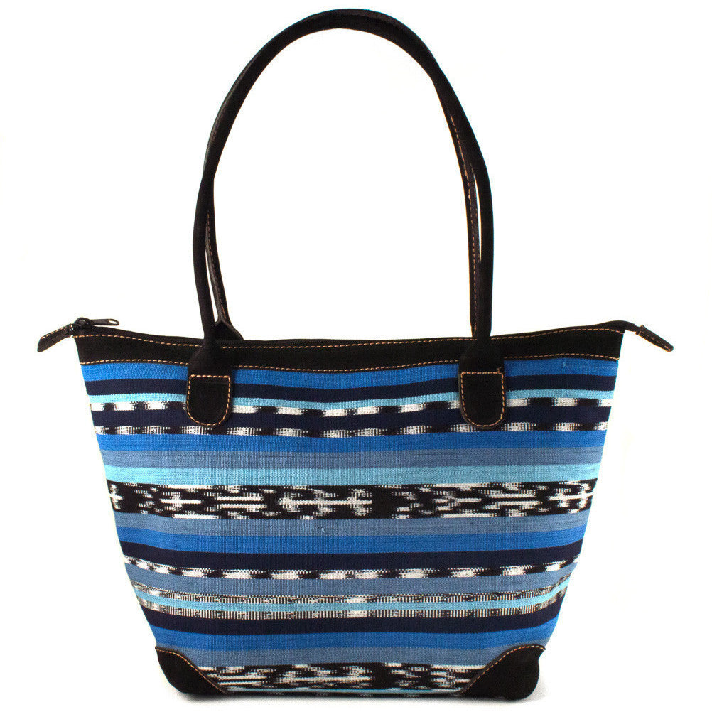 Mariana Bag - blue jaspe (ikat)