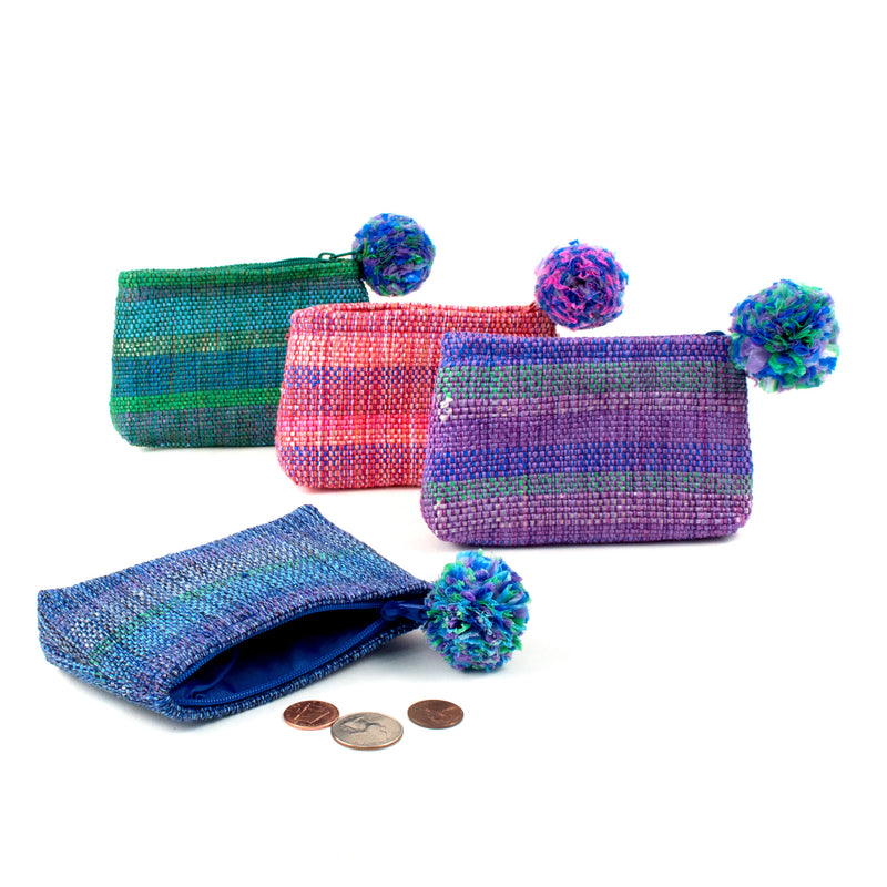 Recycled Plastic Coin Purse - assorted | Mayan Hands