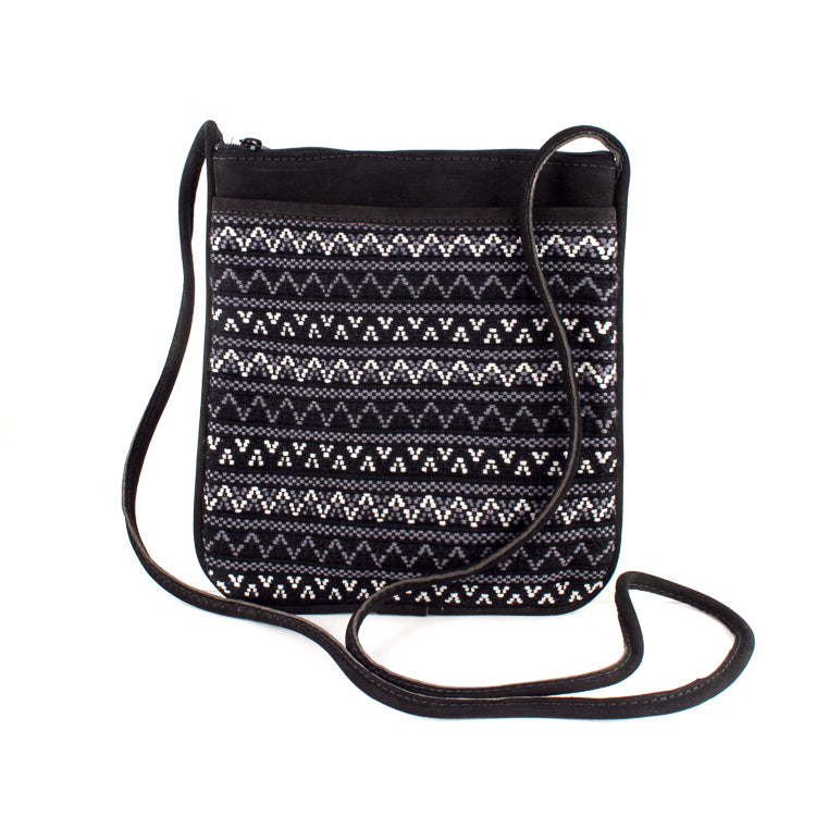 black santiago bag with black leather