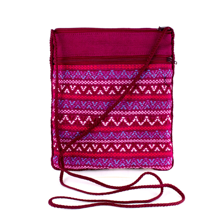 magenta handwoven pocket bag