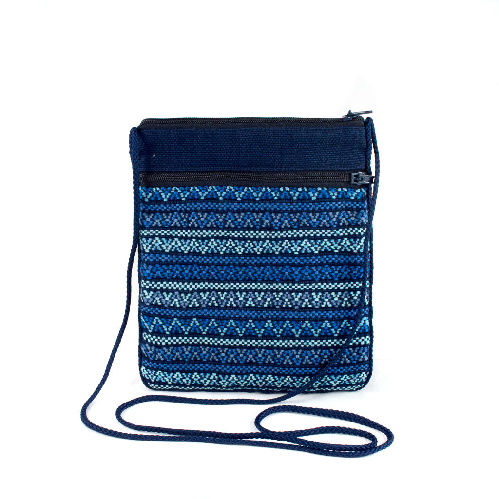 navy santiago brocade bag