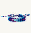 blue and purple arrow friendship bracelet