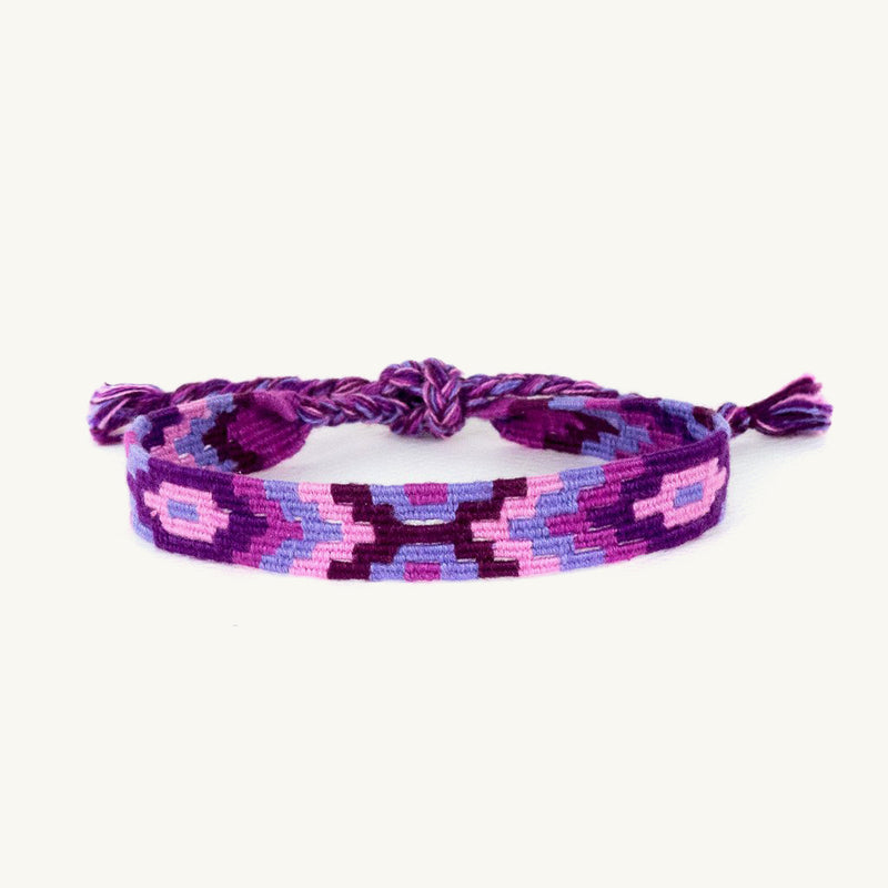 geometric purple bracelet