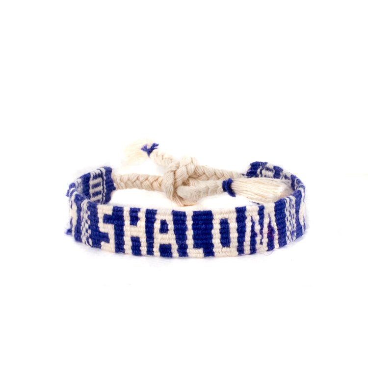 shalom friendship bracelet