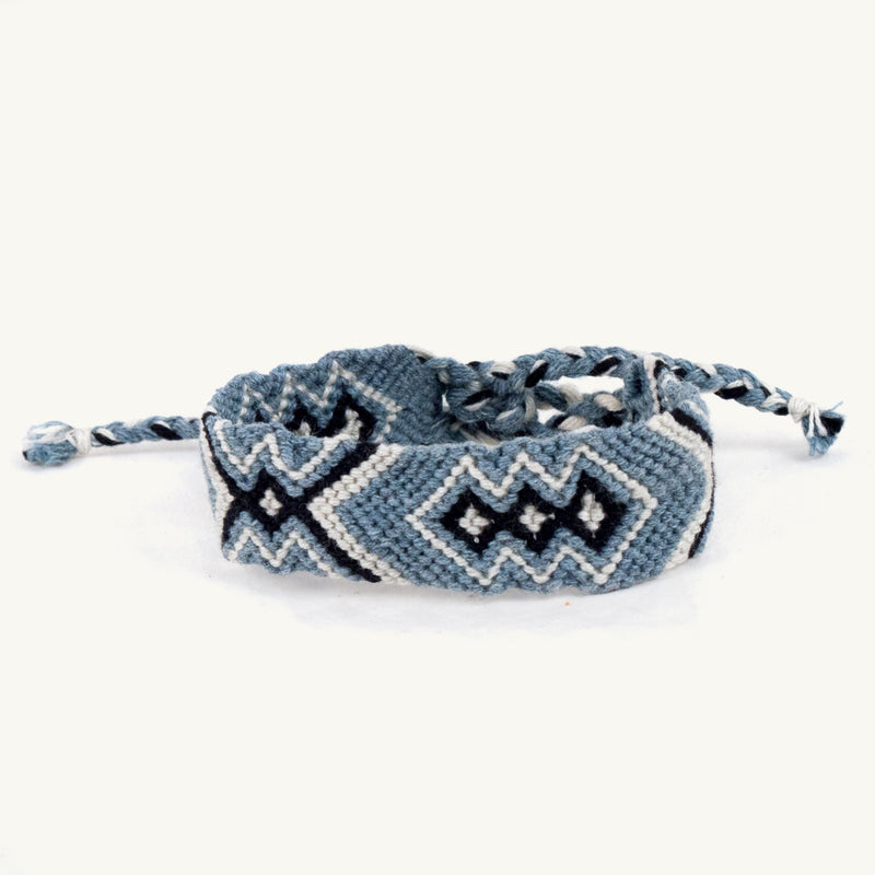 Geo Friendship Bracelet - denim | Mayan Hands