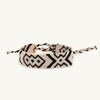 Geo Friendship Bracelet - tan and black