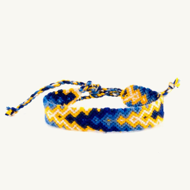 blue and yellow arrow bracelet