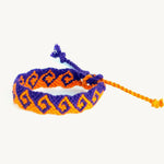 Waves Friendship Bracelet purple and orange