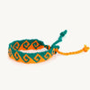 Waves Friendship Bracelet green and orange