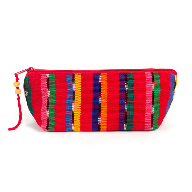 handwoven pencil case red solola