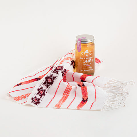 High Holy Days Gift Set with Challah Cover and Handwoven Basket