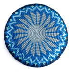 recycled denim kippah mandala design