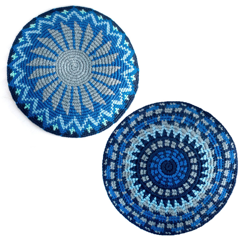 recycled denim kippah assorted
