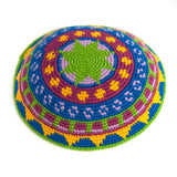 colorful crocheted fair trade kippah
