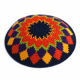 multicolor crocheted fair trade kippah