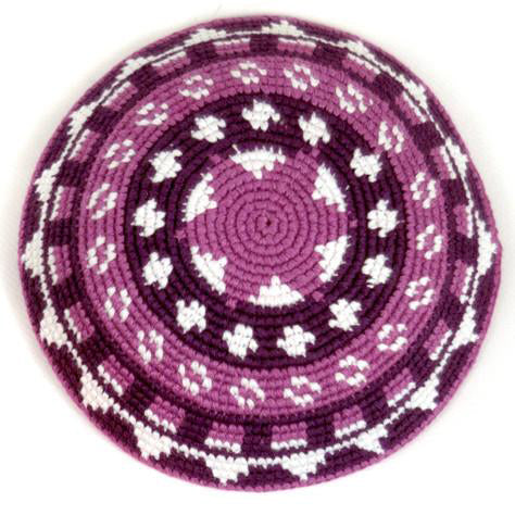 Colorful Crocheted Kippah (Yarmulke)