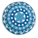 Fair Trade Crocheted Kippah - monochromatic blue