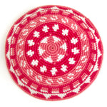 Fair Trade Crocheted Kippah - monochromatic pink