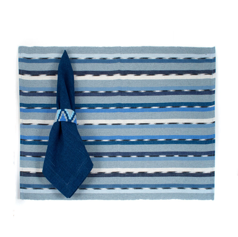 Recycled Denim Solola Placemat with Napkin