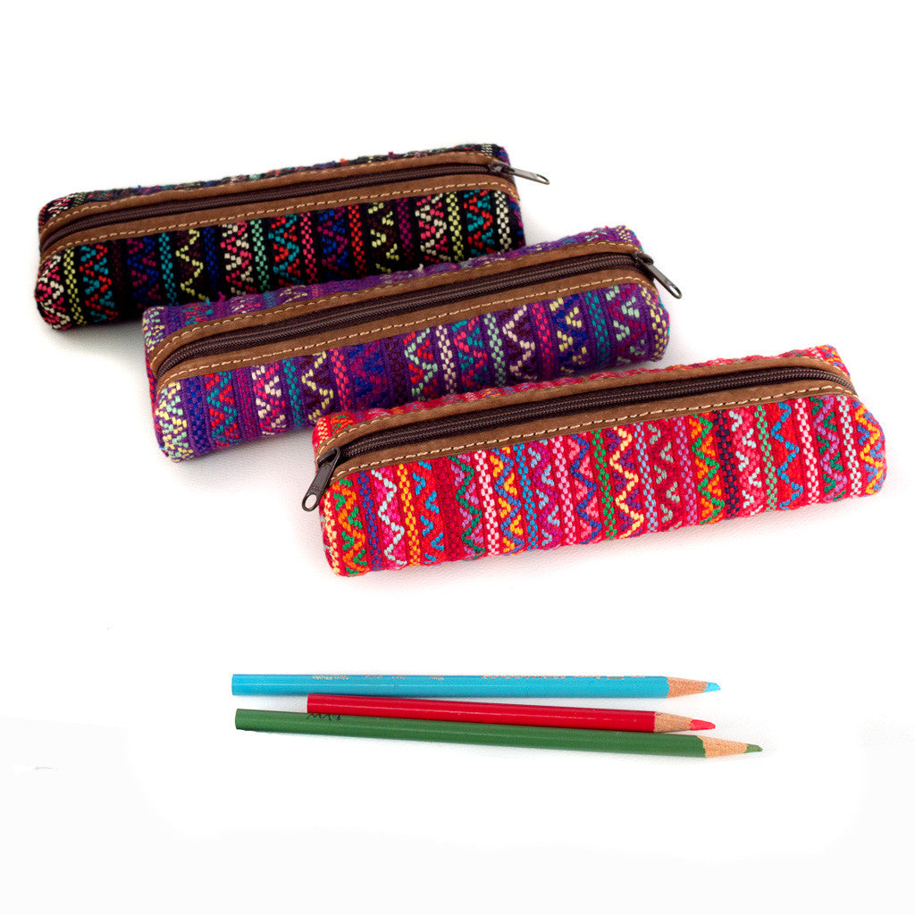 handwoven pencil case - brocade assorted colors