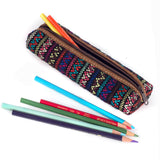 handwoven pencil case brocade multi-color