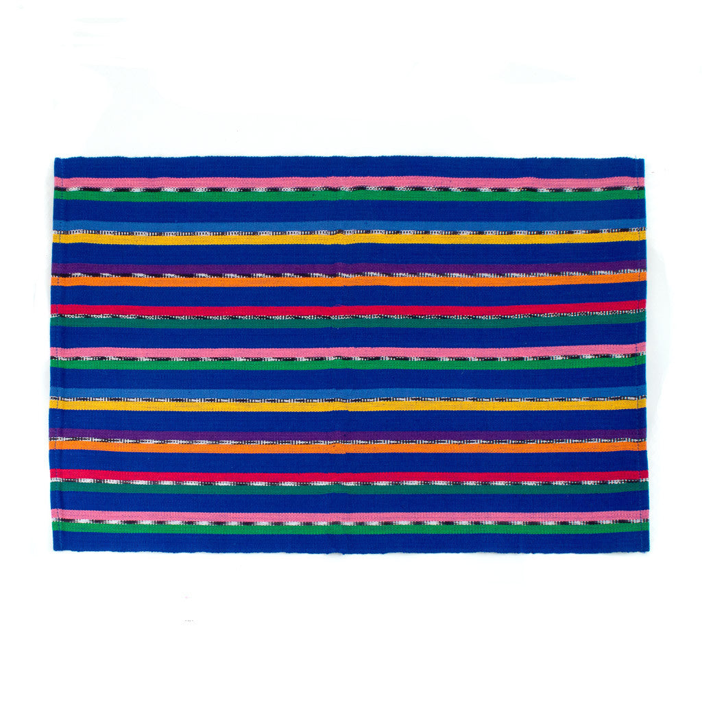 Handwoven Blue Solola Placemat